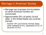 marriage in american society