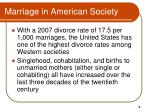 marriage in american society1