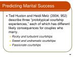 predicting marital success