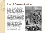 lincoln s assassination