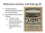 reflection activity left side pg 26