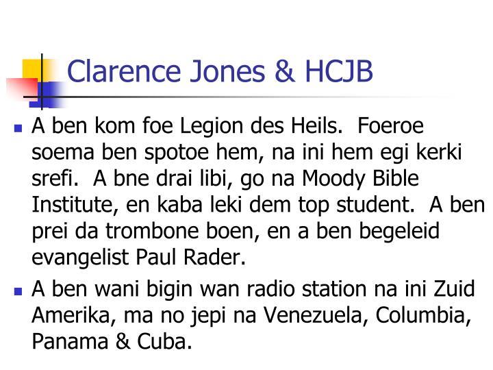 Clarence Jones & HCJB