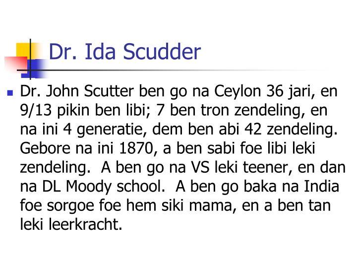 Dr. Ida Scudder
