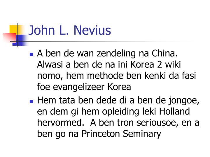 John l nevius