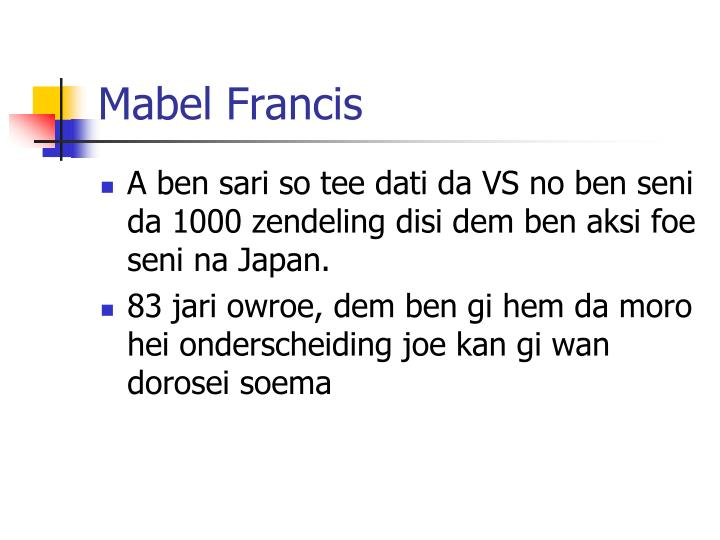 Mabel Francis