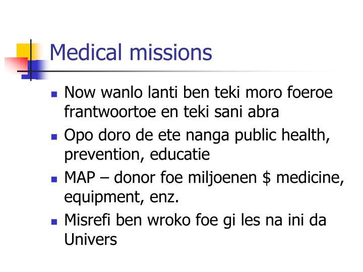 Medical missions