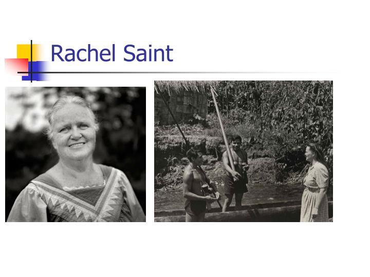 Rachel Saint