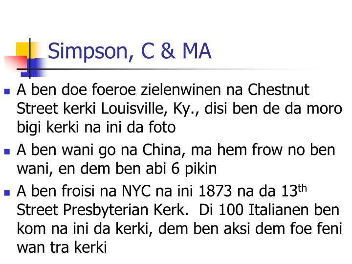 Simpson, C & MA