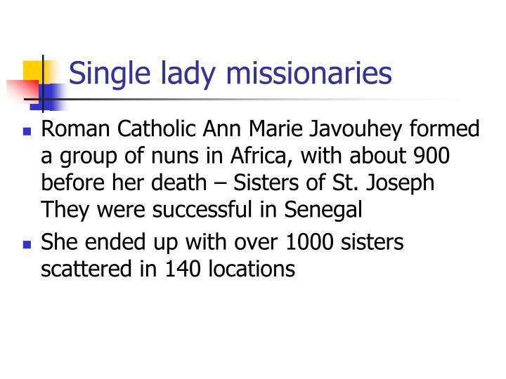 Single lady missionaries