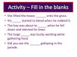 activity fill in the blanks