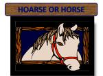 hoarse or horse