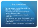 pre assessment1