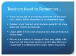 teachers need to remember1
