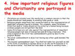4 how important religious figures and christianity are portrayed in the media