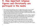 4 how important religious figures and christianity are portrayed in the media1