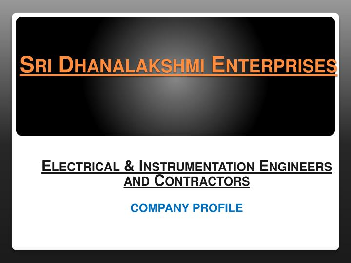 sri dhanalakshmi enterprises n.