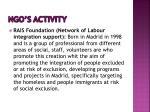 ngo s activity