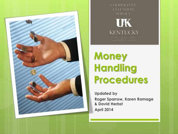 money handling procedures n.