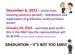 graduation it s not too early