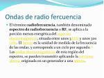 ondas de radio fercuencia