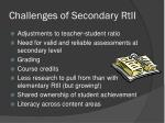 challenges of secondary rtii1