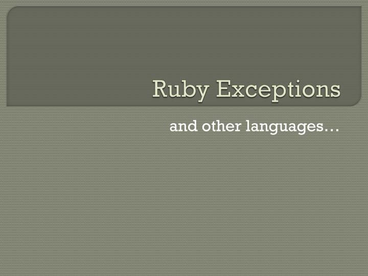 ruby exceptions n.