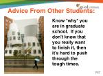 advice from other students2