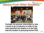 advice from other students3