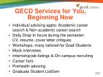 gecd services for you beginning now