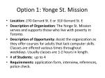 option 1 yonge st mission