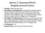 option 3 davenportperth neighbourhood centre