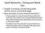 social networks strong and weak ties