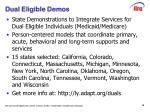 dual eligible demos