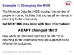 example 1 changing the mds
