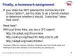 finally a homework assignment