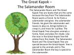 the great kapok the salamander room