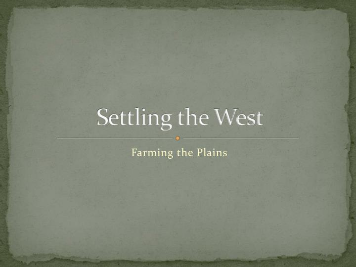 settling the west n.