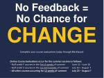 no feedback no chance for change