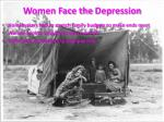 women face the depression
