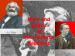 marx and engels on international relations