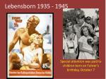 lebensborn 1935 1945