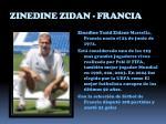 zinedine zidan francia