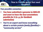 how to find the genes that need curation
