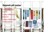sejarah ph meter