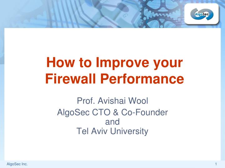 how to improve your firewall performance n.