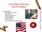curriculum overview social studies