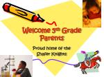 welcome 5 th grade parents
