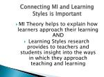 connecting mi and learning styles is important