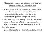 theoretical reasons for markets to encourage generalized prosocial dispostions