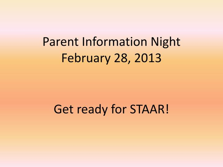 get ready for staar n.